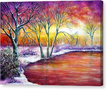 Winter's Song Canvas Print by Ann Marie Bone