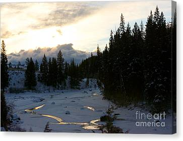 Winter's Sunrise Canvas Print by Birches Photography