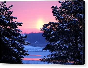 Canvas Print featuring the photograph Winter's Sunrise by Elizabeth Winter