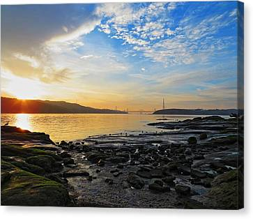 Winters Sunset Canvas Print by Brian Maloney