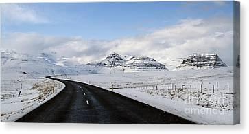 Winter's Way Canvas Print by Evelina Kremsdorf
