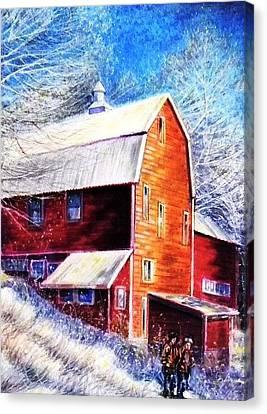 Winterscape Canvas Print by Raffi Jacobian