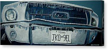 Canvas Print featuring the painting Winterschlaf Pferd by Jeffrey S Perrine