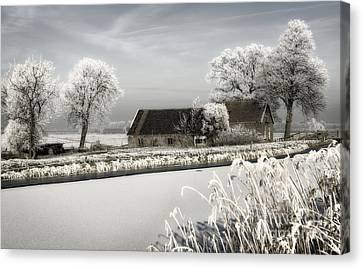 Canvas Print featuring the photograph Winterwonderland by Michel Verhoef