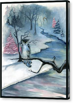 Canvas Print featuring the painting Winterwood by Terry Webb Harshman