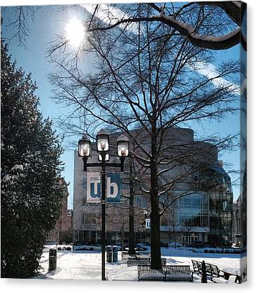 Wintery Gordon Plaza  Canvas Print by Toni Martsoukos
