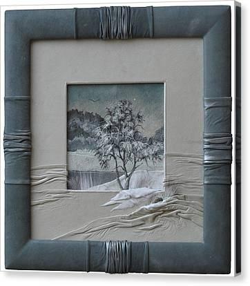 Wintry Morning Canvas Print by Yakubouskaya Olga