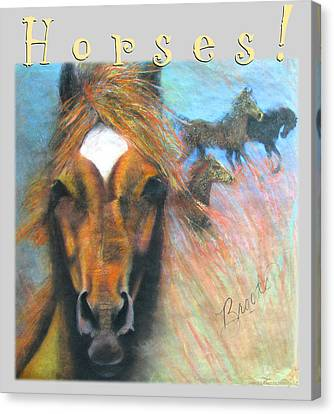 Canvas Print featuring the pastel Wild Horses by Brooks Garten Hauschild