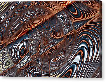Wire Gnarl And Spokes Canvas Print by Mark Eggleston