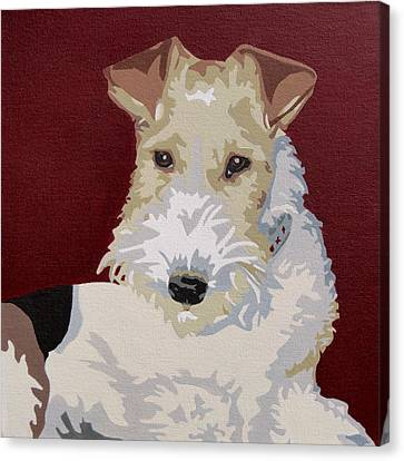 Fox Terrier Canvas Print - Wirehaired Fox Terrier by Slade Roberts