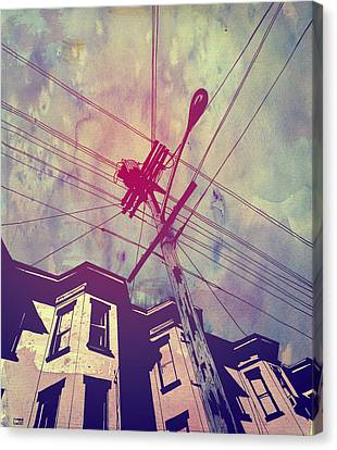 Wires Canvas Print by Giuseppe Cristiano