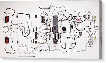 Wiring Loom Of Modern Car Canvas Print by Dorling Kindersley/uig