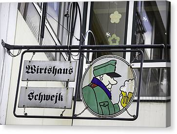 Wirtshaus Schwejk Brauhaus Sign Cologne Germany Canvas Print