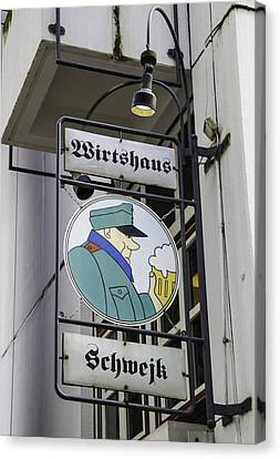 Wirtshaus Schwejk Sign Cologne Germany Canvas Print