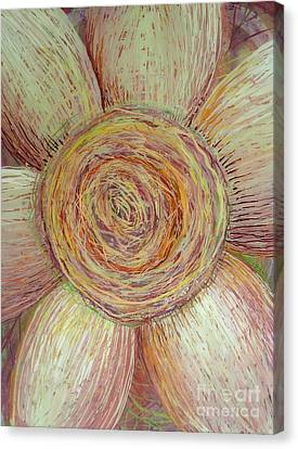 Wiry Sunflower Canvas Print by Anna Skaradzinska