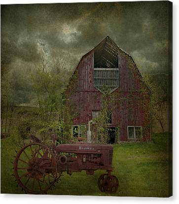Antique Tractors Canvas Print - Wisconsin Barn 3 by Jeff Burgess