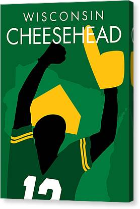Wisconsin Cheesehead Canvas Print by Geoff Strehlow