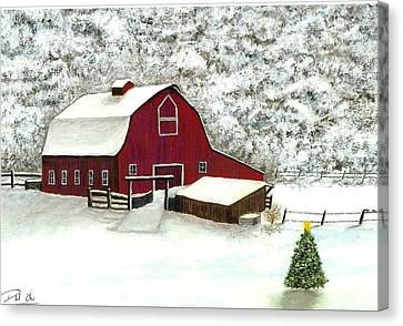 Wisconsin Christmas Canvas Print by Dan Wagner