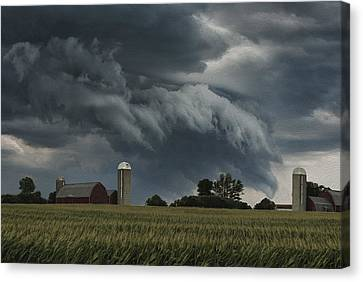 Wisconsin Farm Canvas Print by Jack Zulli