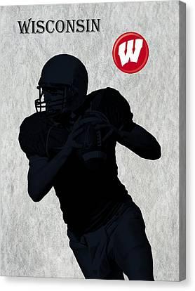 Wisconsin Football Canvas Print by David Dehner