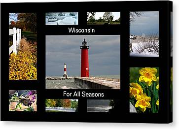 Canvas Print featuring the photograph Wisconsin For All Seasons by Kay Novy
