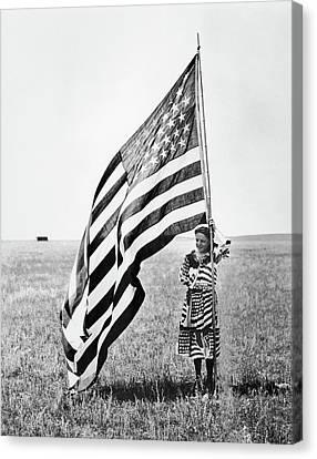 Wisconsin Patriotism Canvas Print by Granger
