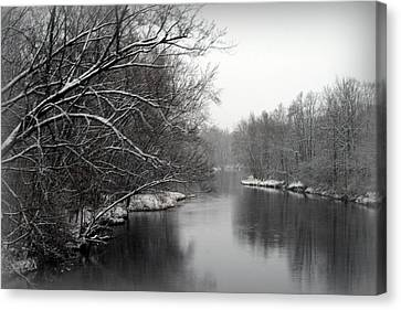 Wisconsin River Canvas Print by Kay Novy