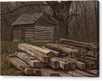 Wisconsin Rustic Canvas Print by Jack Zulli