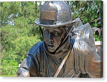 Canvas Print featuring the photograph Wisconsin State Firefighters Memorial 3  by Susan  McMenamin