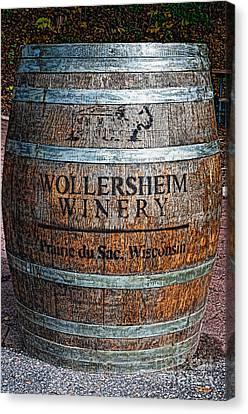Wisconsin Wine Barrel Canvas Print
