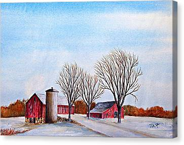 Wisconsin Winter Canvas Print