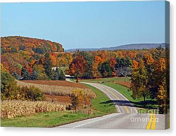 Canvas Print featuring the photograph Wisconsin's Fall Color by Joan McArthur