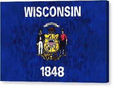 Wisconsin Flag Canvas Print by World Art Prints And Designs