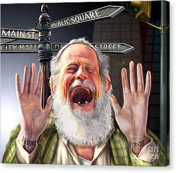 Old Man With Beard Canvas Print - Wisdom Cries-out  by Reggie Duffie