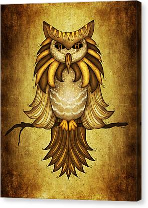 Wise Owl Canvas Print by Brenda Bryant