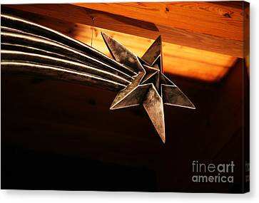 Wish Upon A Shooting Star Canvas Print by Linda Shafer