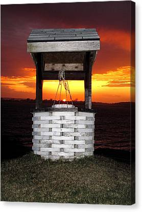 Wishing Well Canvas Print by Donnie Freeman
