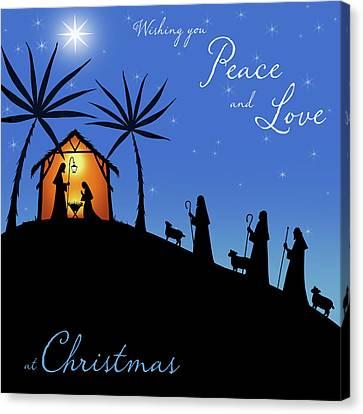 Wishing You Peace - Shepherds Canvas Print by P.s. Art Studios