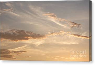Wispy Sunset Canvas Print by Debi Dmytryshyn