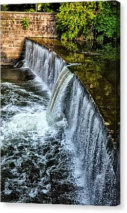 Wissahickon Canvas Print - Wissahickon Dam At Ridge Avenue - Side View by Bill Cannon