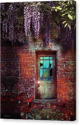Wisteria Door Canvas Print