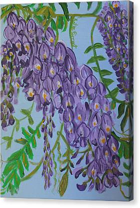 Purple Flowers Canvas Print by Kate Farrant