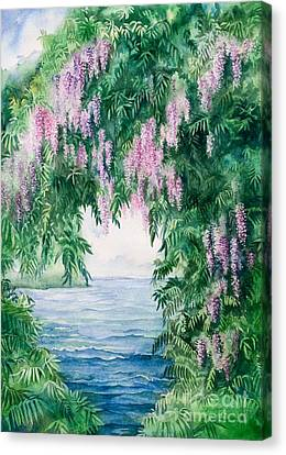 Wisteria Canvas Print by Michelle Wiarda