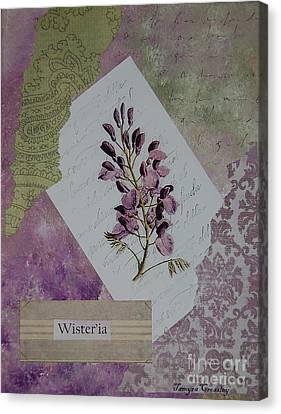 Wisteria Canvas Print by Tamyra Crossley