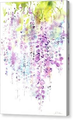 Wisteria Watercolor Version Canvas Print