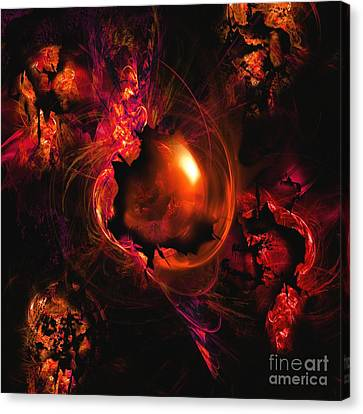 Abstract Digital Art Canvas Print - Wistful Love Deep In My Soul by Franziskus Pfleghart