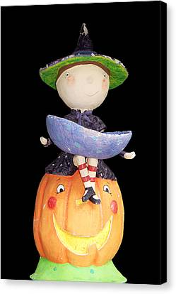 Witch And Pumpkin  Canvas Print by Aimee L Maher Photography and Art Visit ALMGallerydotcom