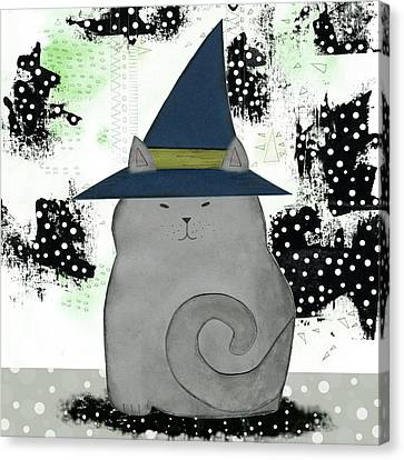 Witch Cat Canvas Print by Sarah Ogren
