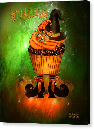 Witch Cupcake 4  Canvas Print by Carol Cavalaris