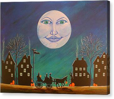 Witch Moon Canvas Print by Christine Altmann